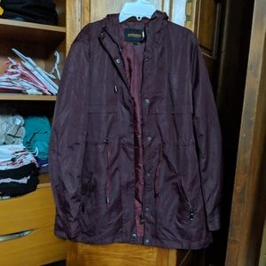 Purple rain jacket for spring